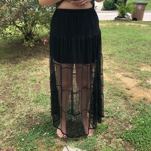Forever 21 lace maxi skirt